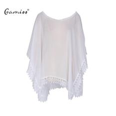 Gamiss Womens Swimwear Bikini Beach Wear Cover Up Kaftan Summer Dress(White) - intl