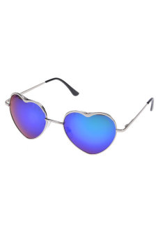 Rimless Glasses Singapore : Heart Shape Sunglasses Rimless Frame Eyewear (Silver and ...