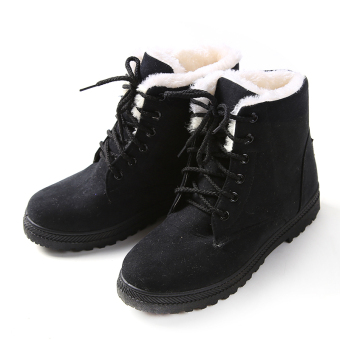 HengSong Women's Snow Boots Martin Boots Outlets Waterproof Ladies Shoes Black