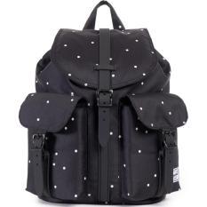 Herschel Supply Co. Mini Size Dawson Backpack Polka dot Scattered black  black rubber c5db9e9f29e4b