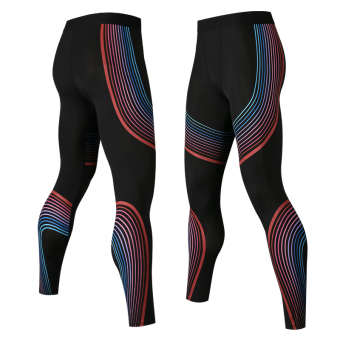 I streamer slim fit men stretch leggings three sets (Blue Red streamer trousers)