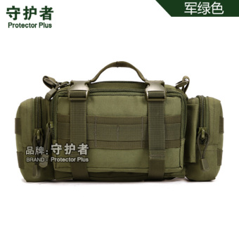 Keeper outdoor pockets of men's multi pockets messenger bag shoulder bag casual male outdoor tactical army green pockets (Army green)
