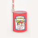 Korea creative cute cartoon bus card sets lanyard student meal mealcard access kabbah sets of documents (Red love girls sets)