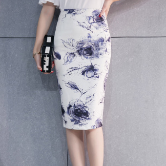 Korean-style female spring and summer New style step Skirt