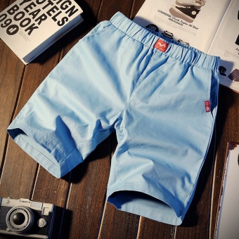 Korean-style sports five pants summer casual pants (K103-denim blue)