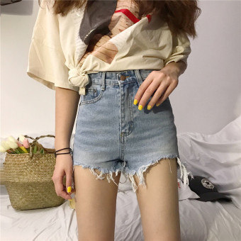 Korean-style spring female New style hot pants cowboy shorts
