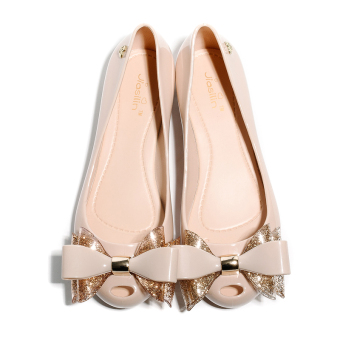 Lazy New style jelly gel shoes women's shoes (Nude color) (Nude color)