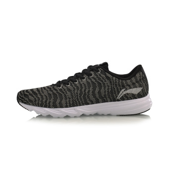 LI-NING New style lightweight breathable wear and summer sports shoes men's shoes (Black/silver color/White)