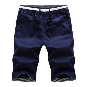 LOOESN casual men summer Plus-sized shorts (Dark blue color)