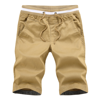 LOOESN casual men summer Plus-sized shorts (Khaki)