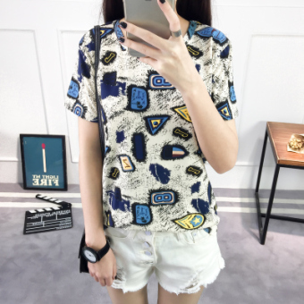 LOOESN Korean-style short sleeved t-shirt New style Female Summer (Figure color [1033 models])