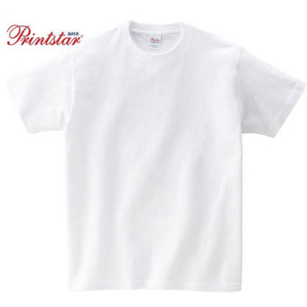 Loose cotton solid color round neck short sleeved bottoming shirt T-shirt (White) (White)