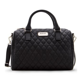 Mango Quilted Bowling Cross Body Leather Sling Hand Bag WithZipfastening - intl