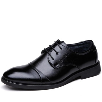 Men Business Comfortable Breathable Light Leisure Leather Shoes - intl
