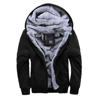 Men Fashion Hooded Thick Thermal Plus Size Winter Jackets(Black) -intl