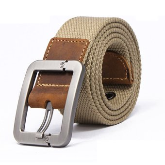 Men Military Tactical Nylon Belt Army Outdoor (Khaki)