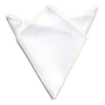Men Suit Pocket Square Towel Handkerchief (White) - - intl