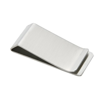 Metal Stainless Steel Money Clip Holder Folder Collar Clip - intl