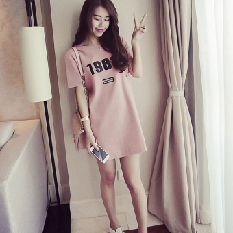 MM Korean-style Female Summer Student pajamas lingerie (Short paragraph 1986 pink) (Short paragraph 1986 pink)