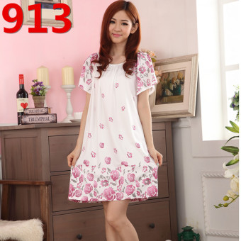 Mm200/3XL Female Summer Cotton Short sleeved extra-large women's lingerie pajamas (913)