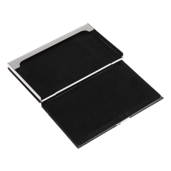 Modern Leather Inner Velvet Pocket Business Name Credit ID Card Holder