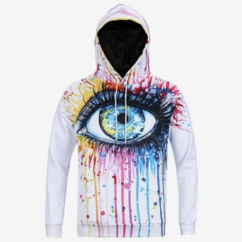 New Arrivals Men's Long Sleeve Autumn Winter Funny Print Casual Hoodies - intl