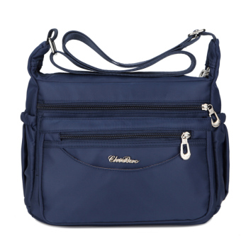 New style casual female bag waterproof nylon bag (Blue)