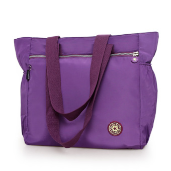 New Style Large Capacity travel women's bag shopping bag (Purple) (Purple)