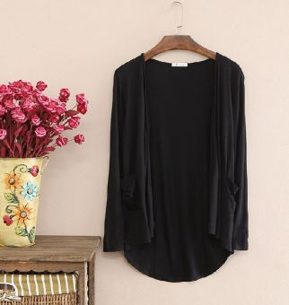 New style long section loose modal long-sleeved sun shirt