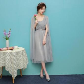 New style mid-length bridesmaid dress (1703 mid-length gray)