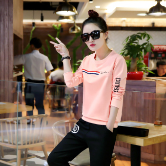New style student casual bottoming shirt Top (Pink) (Pink)