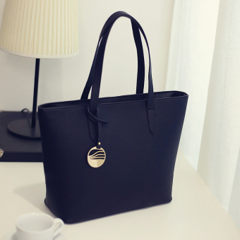 New style toothpick pattern big bag (Black) (Black)