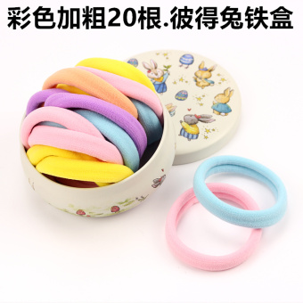 No pick sewing rubber band tousheng headdress hair Ring (Color bold 20. Peter Rabbit)