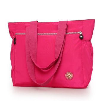 R172 artistic bag retro shoulder bag New style canvas bag (Rose color)