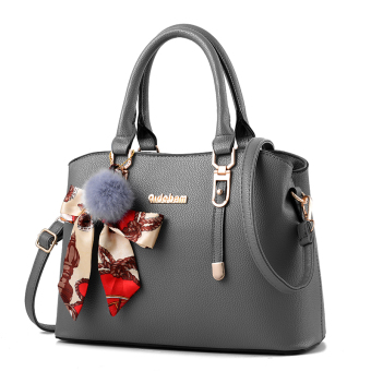 Shishang New style shoulder winter women's bag (Gray-to send VT wallet)