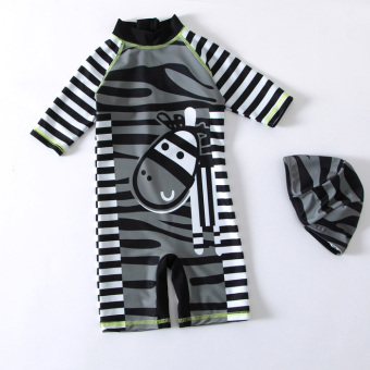 Small zebra boys baby striped surf clothing children's swimsuit