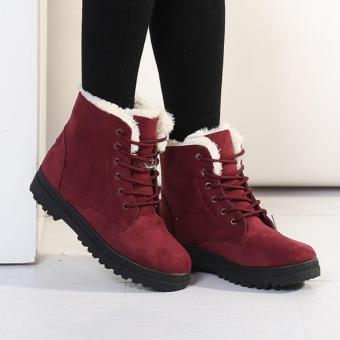 Snow Boots Martin Boots Korean Factory Outlets Waterproof Ladies Shoes -intl