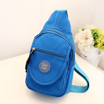 Sports Korean-style New style chest pack (Sky blue color) (Sky blue color)