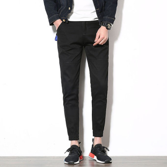 Spring New style casual pants (Black)