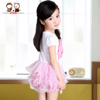 Summer short sleeved princess dress