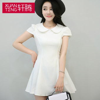 Teng xuan cheap 2017 summer miss han ban wild doll collar dress fashion short sleeve dress was thin waist