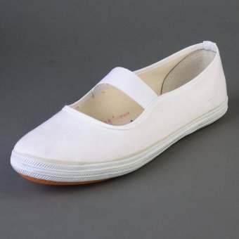 White a pedal elderly dance shoes Plus-sized plain weave shoes