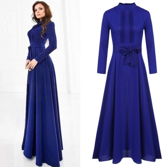 Women Ladies Long Sleeve Chiffon Maxi Long Evening Party ElegantDress - intl