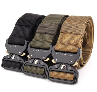 WZJP outdoor nylon tactical belt outside the belt (Army Green)