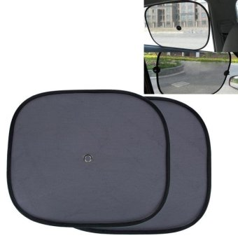 2 PCS Car Window Foldable Shade For Side Blocks UV Rays WithSuction Cups - intl