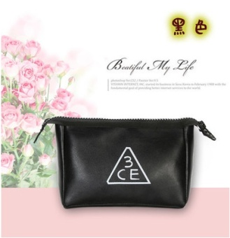 3CE makeup bag small portable Korean clutch bag large capacity storage bag waterproof makeup products travel wash bag