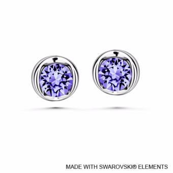 Beryl Earrings Tanzanite Crystals from Swarovski®