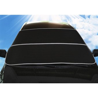Car Windshield Sun Shade Snow Frost Proof Dual Use Cover Black -intl