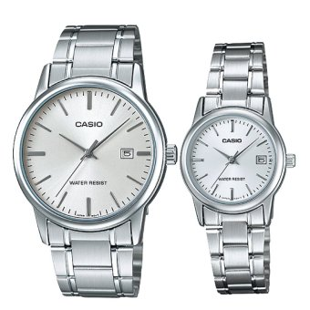 Casio Couple Stainless Steel Watch LTPV002D-7A MTPV002D-7A