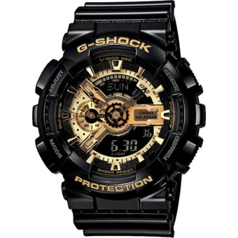 Casio G Shock Black Gold Mens Watch GA-110GB-1A